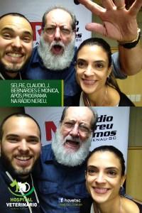 Os Mvs. Cirurgiões dr. Claudio Domingues e dra. Monica Burza na Rádio Nereu Ramos